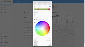 Sterowanie listwą RGBW przez interfejs systemu Home Assistant